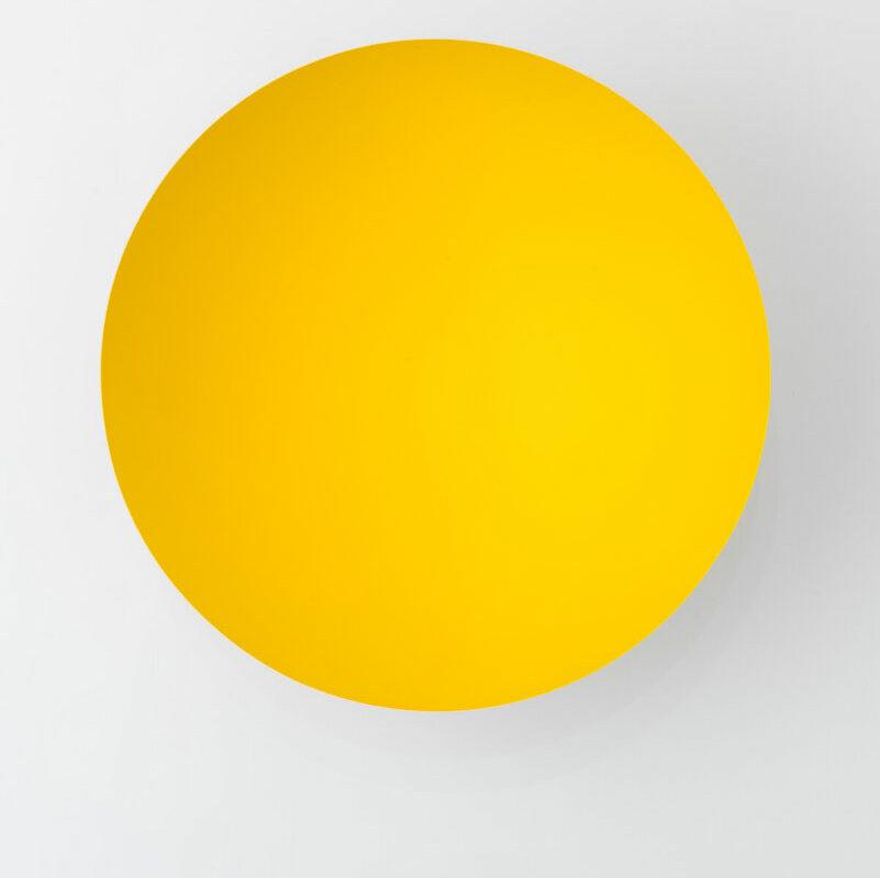 Anish-Kapoor---Galleria-Continua---Monochrome,-Yellow,-2014---Sculpture,-121-x-121-x-84-cm
