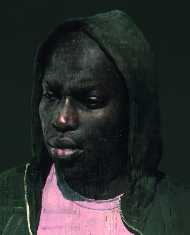 François Bard - Galerie Olivier Waltman - L'homme au t-shirt rose