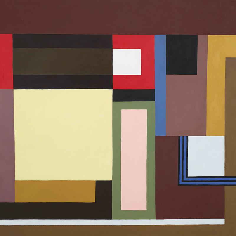 Nathalie du Pasquier - Galerie Yvon Lambert - Di Nuovo, 2020 - Peinture, Huile sur toile, 100 x 100 cm